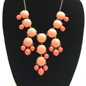 J.Crew Orange Bubble Statement Necklace #83